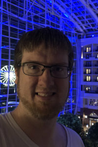 Portrait of Josh at the Gaylord Hotel